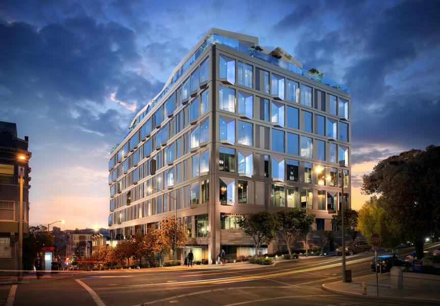 El edificio de nueve pisos tiene cuatro grandes <em>penthouses </em>de dos pisos y siete <em>penthous