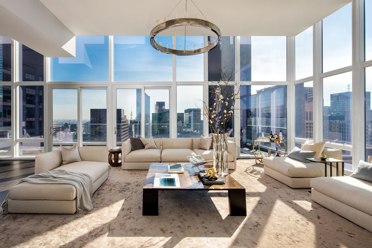 The pictured Baccarat Hotel & Residences penthouse was sold for $42.55 million.