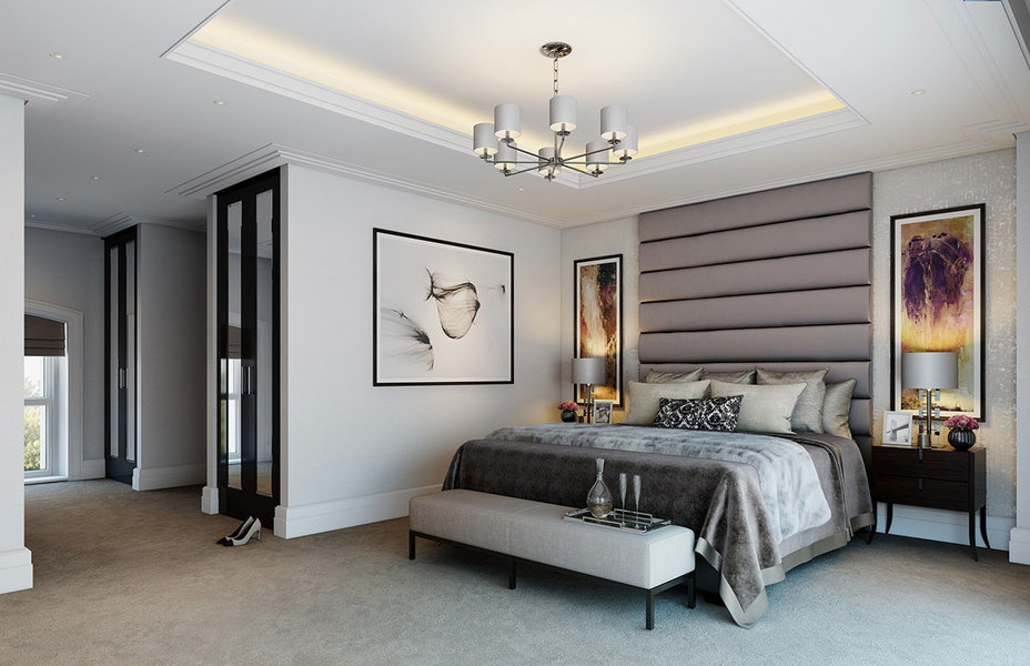 A master bedroom design.