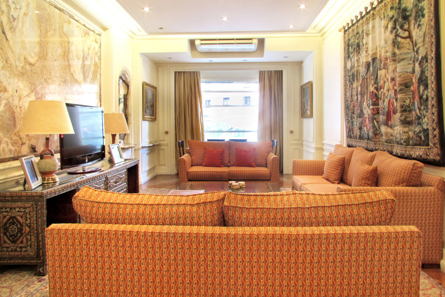 A 3,228 square ft. apartment with three bedrooms, three bathrooms and one partial bath in the prestig