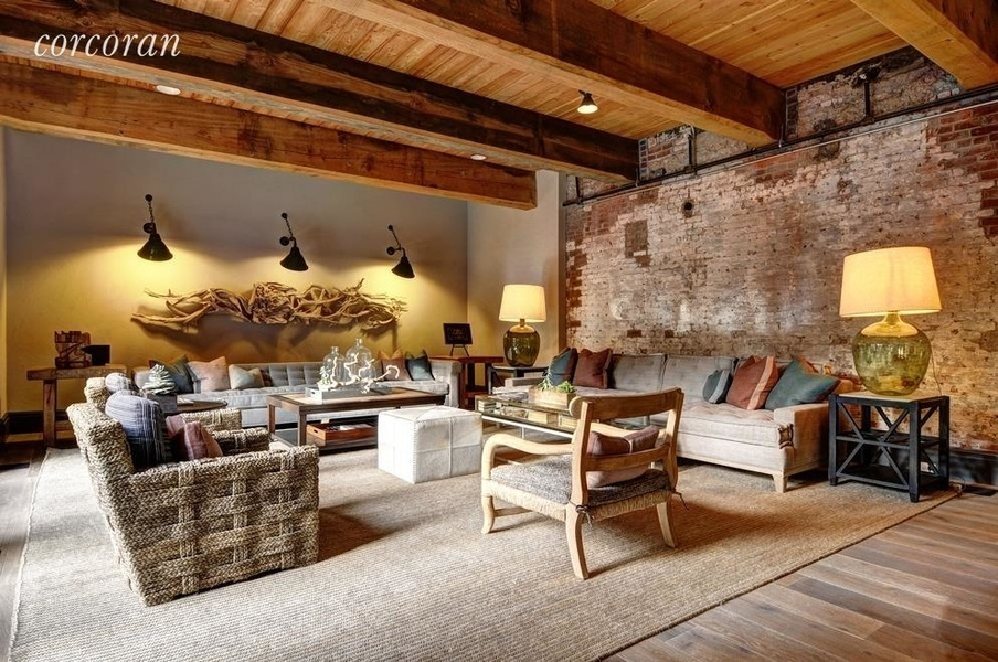 The industrial interior of the Watchcase condominiums in Sag Harbor