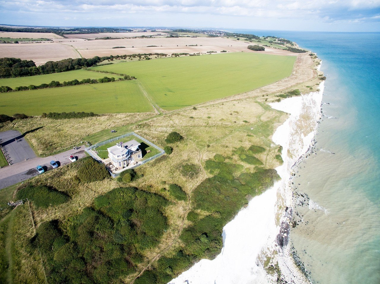 The former coastguard station atop the White Cliffs of Dover is selling for $3.43 million.<br />