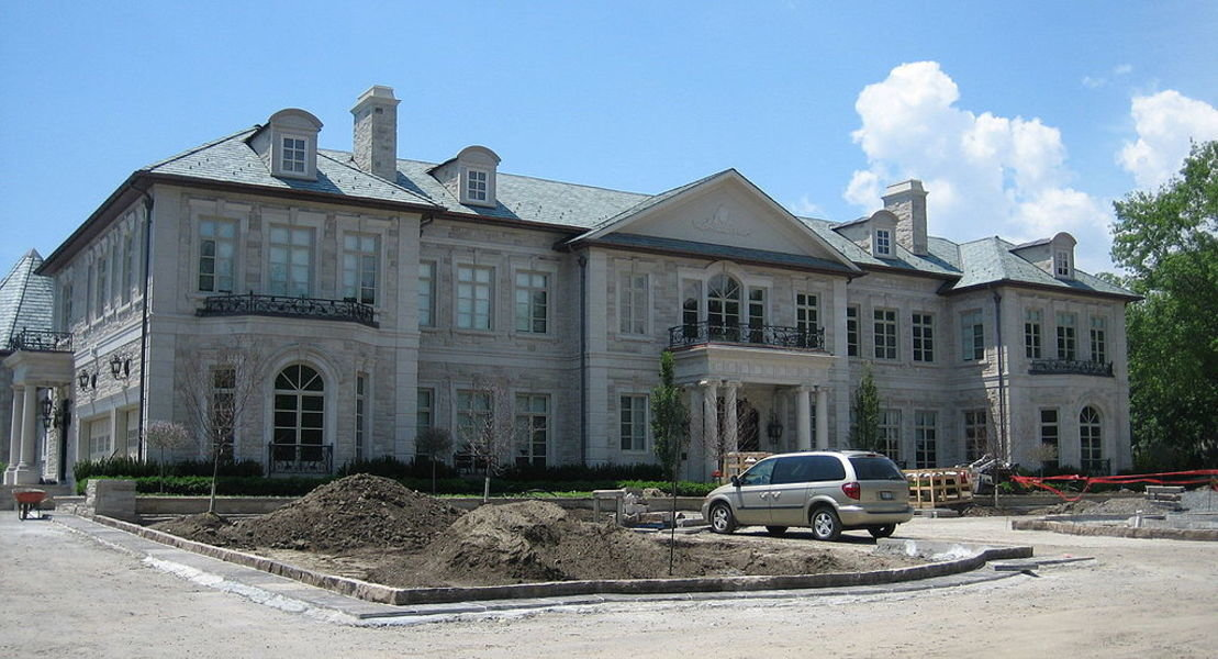 The home at Bridle Path under construction