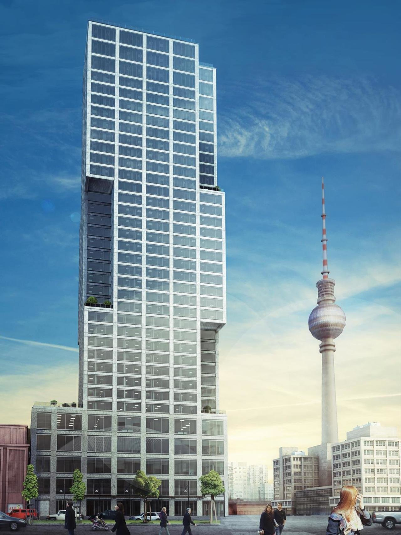 Alexander Tower will feature 377 apartments, plus commercial and retail space, over 35 floors.