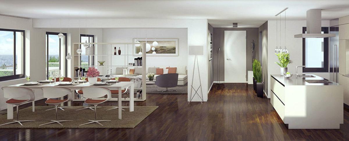 效果图:新普洛拉综合项目内的一套豪华公寓