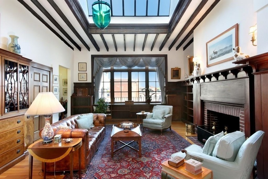 The pictured two bedroom penthouse apartment on Beacon Street is currently listed for sale at $2.63 m