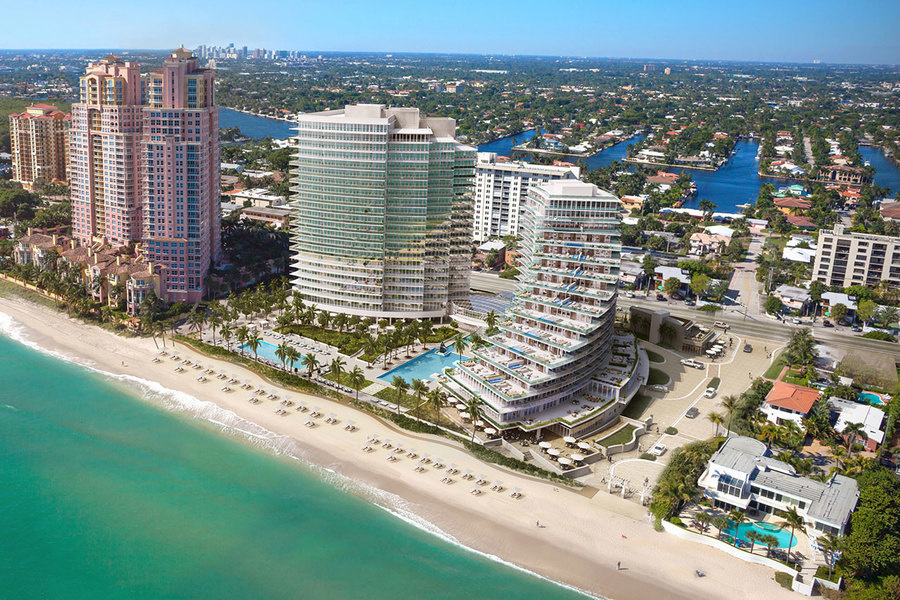 Units at the two-story Auberge Beach Residences & Spa Fort Lauderdale sell from $1.5 million to o