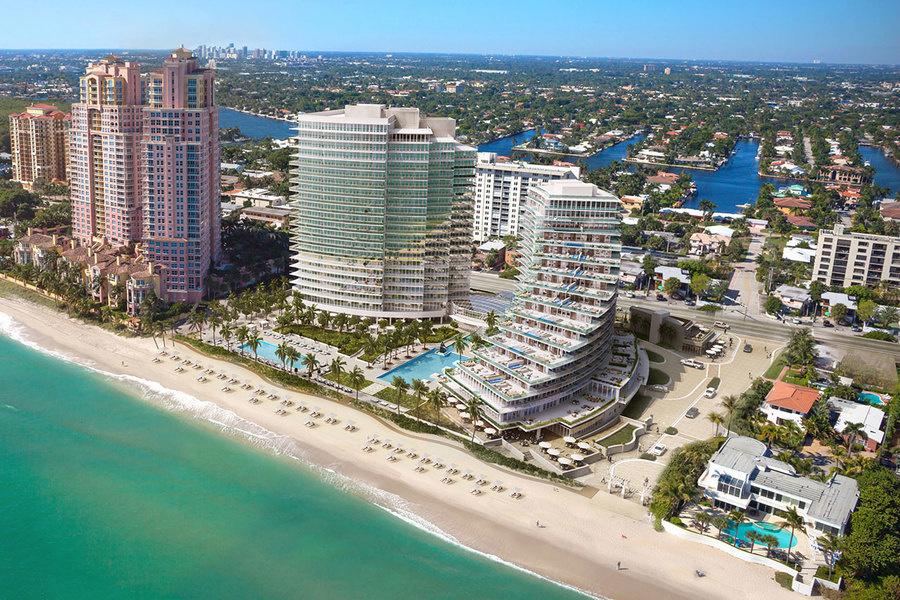 Las unidades en las dos torres del Auberge Beach Residences & Spa Fort Lauderdale se venden por e