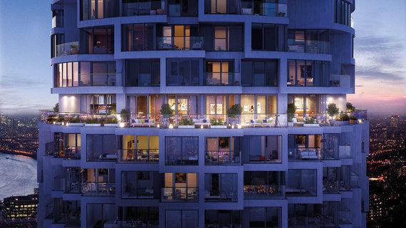 每日豪宅 | 尽享都市繁华的伦敦金丝雀码头高层公寓