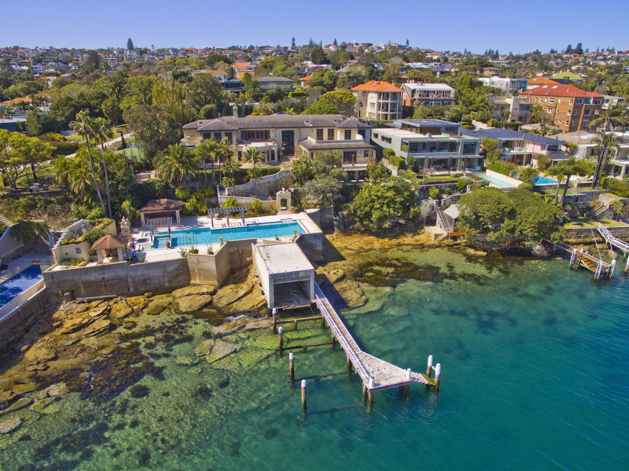 This waterfront mansion in Sydney, Australia, sold in December. It was asking A$70 million