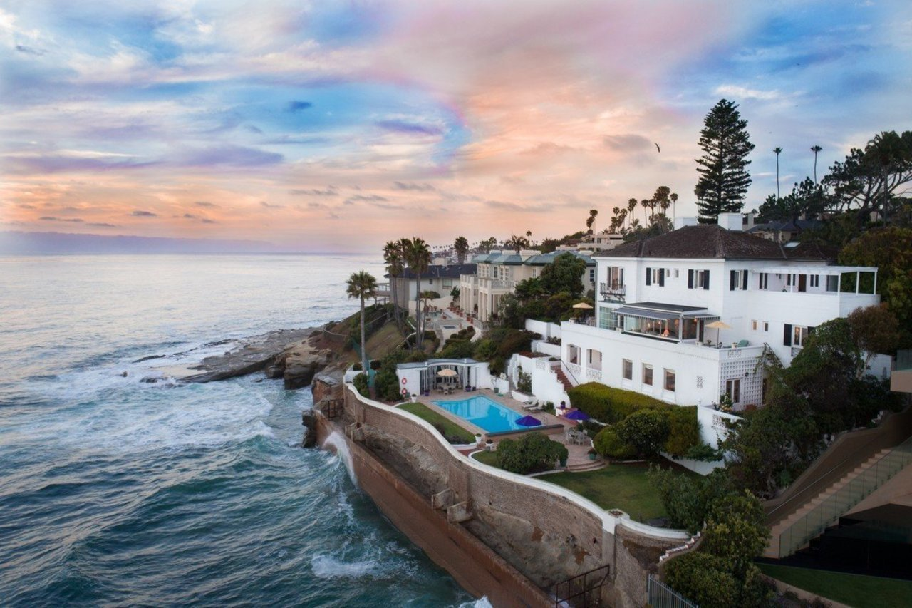 This pictured seven-bedroom oceanfront estate is currently on the market asking for $17.5 million.