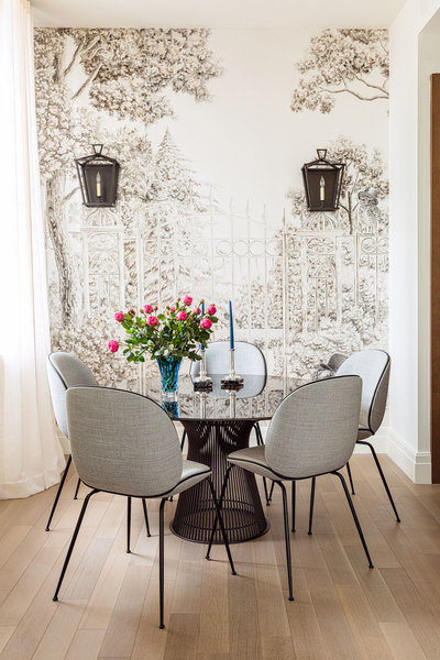 Designed by Bennett Leifer for One Hundred Barclay Street in New York City, this breakfast space come
