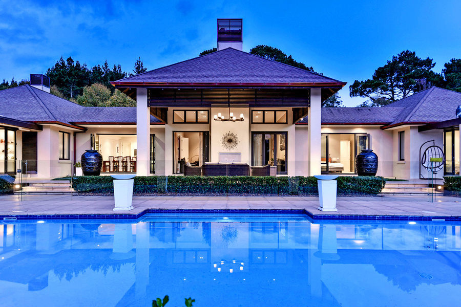This six-bedroom, five-bathroom home sits on 2.45 hectar of land is currently listed for about NZ$5.5