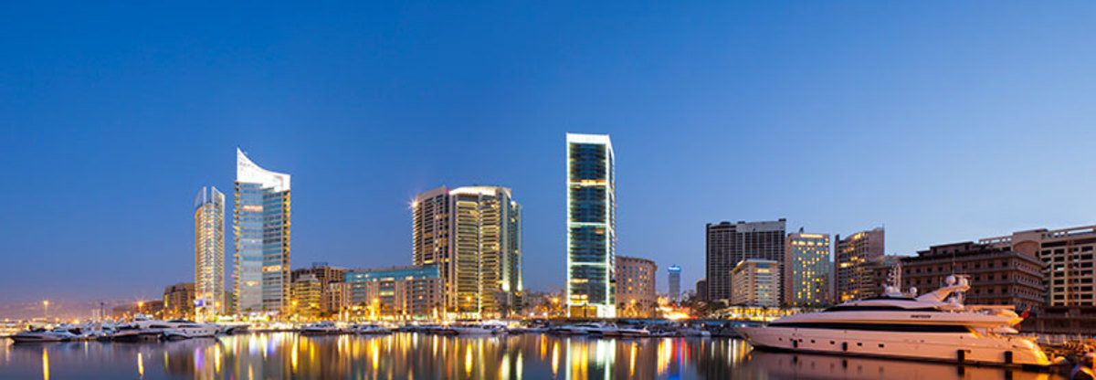The Beirut skyline from Zaitunay Bay.
