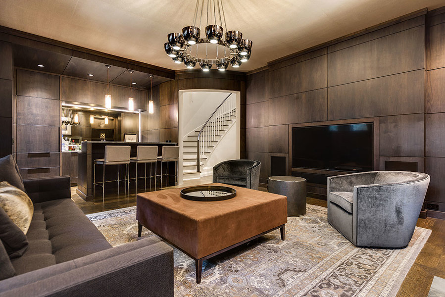 The living area at recently constructed 25 Cedar St. in Chicago, which is listed at $7.65 million.