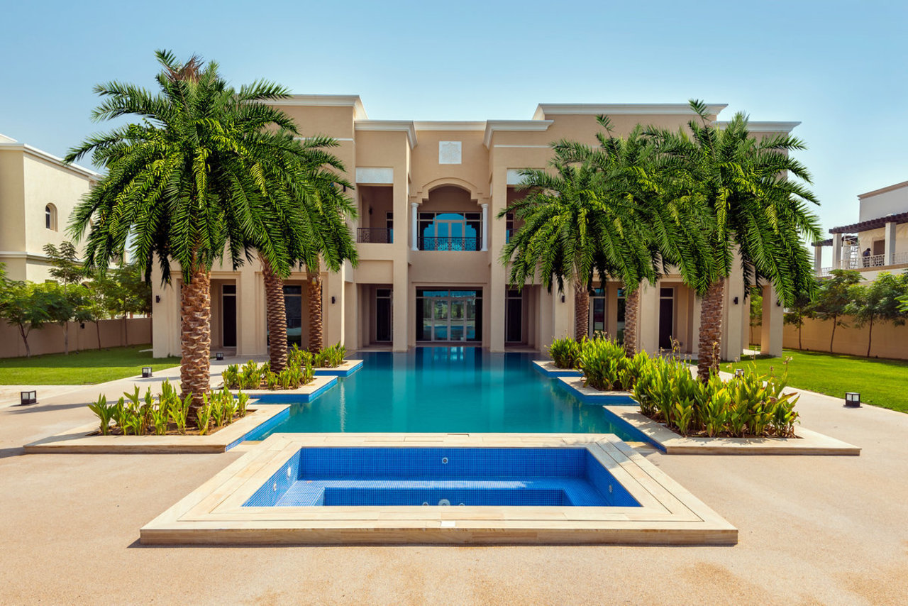 A six-bedroom villa built with full natural marble stone is currently asking for $13.3 million.